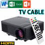 Mini Proyector Led Portatil - Hdmi - Usb - Cable (800x480)