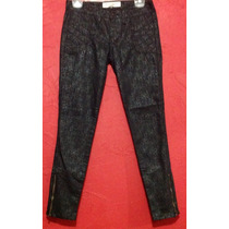 Jeans Casual C & A Negro Animal Print Skinny Fiesta Entubado