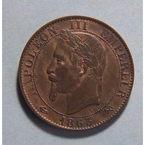 Francia 5 Centimes 1863 K (bordeaux) Exc Km 797.3 Hermosa