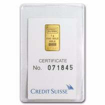 Suiza Crédito Suizo 1 Gramo Oro Puro 24 Kilates.