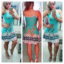 Fique Linda Vestido Curto Panicat Instagram Verão 2017