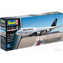Revell Alemana Boeing 747 400 Iron Maiden 1/144 Armar Pintar