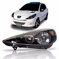 Farol Peugeot 207 Hoggar 2007 Até 2014 Mascara Negra Ld
