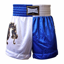 Shorts Muay Thai Rudel Dragon 2 Azul E Branco