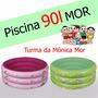 Mônica Piscina 90 Litros Plástico Inflável Infantil Redonda
