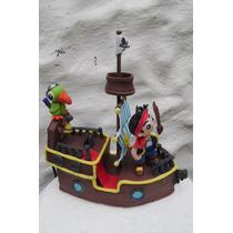 Adorno Tortas Barco Jake Y Los Piratas