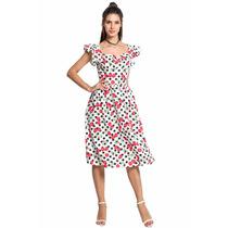 Vestido Vintage Retro Casual Cerezas Sexy Envío Gratis Dhl