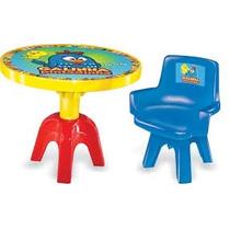 Mesa Com Cadeira E Porta Objetos Galinha Pintadinha