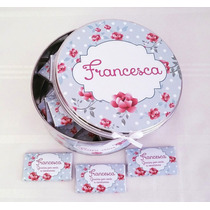 Lata Central C/cinta + 40 Chocolates 9grs C/u Personalizados