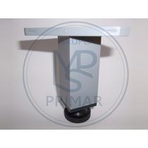 Pata De Plastico Color Gris Regulable De 10cm Para Muebles.