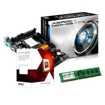 Kit Amd Asrock Am3 + Fx 4300 3.8ghz Quad Core + Memória 4gb