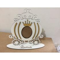 Porta Retrato Carruagem Princesas Em Mdf