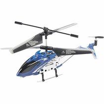 Mini Helicóptero 3,5 Canais Azul Com Controle Remoto Brink +