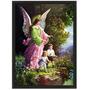 Quadro Religioso 34x44 Com Moldura - Anjo Da Guarda