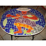 Mesa Metalica Con Cubierta De Mosaico