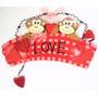 Letrero Love Monos Amorosos Casa Navidad Regalo Cumpleaños