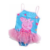 Malla De Baño Nena Con Tull Peppa Pig. T 6/8. Importada!