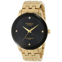 Armitron Hombre 20/4952bkgp Diamond Gold-tone Bracelet Reloj