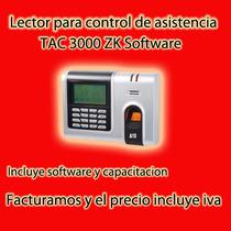 Lector Control De Asistencia Tac3000 Zk Software