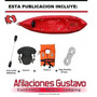 Kayak Atlantik K1+remo+soga+asiento+silbato Directo Fabrica