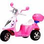 Moto Elétrica Infantil Triciclo Rosa Menina