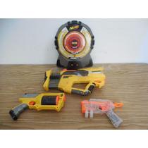 Lote Tablero Y 3 Pistolas Nerf Dardos Normal