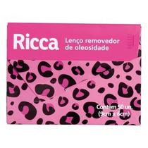 Lenço Removedor De Oleosidade 50un Ricca