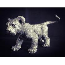 Escultura Cachorro De León Plata 999 Electroformado Figura