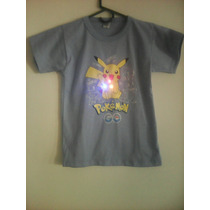 Remeras Pokemon Go Con Luces Led