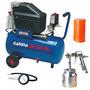 Compressor Ar 24l 2hp + Pintura 3 Peças 220v Gamma G2801kbr2