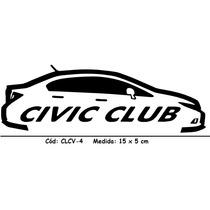 Adesivo Clube Carro Honda Civic 2012/2015 + Brinde - Clcv-4