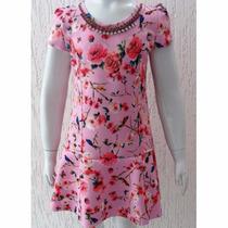 Vestido Neoprene Floral Pituchinhu