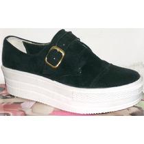 Panchas Zapatillas Plataforma Gamuza Zapatos Calzados Cris