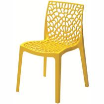 Cadeira Gruvyer - Fabricada Na Itália - Cor Amarela