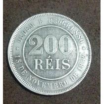 Moeda 200 Reis 1889 Rara E Perfeita - Baixei Para Vender