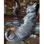 Juguete Antiguo Alcancía De Metal (zapato C/gato Y Ra. 10469