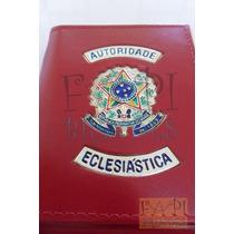Porta Cheques De Autoridade Eclesiástica Brasão Da República