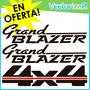 Kit Calcomanias Chevrolet Grand Blazer 4x4 Diseño Original