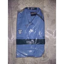 Camisa Colegial Azul Marca Flipper Talla 12
