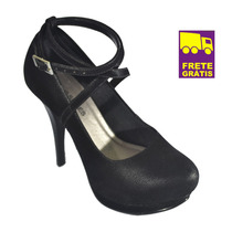 Scarpin Sapato Up Shoes Salto Alto! Muito Confortável!lindo!