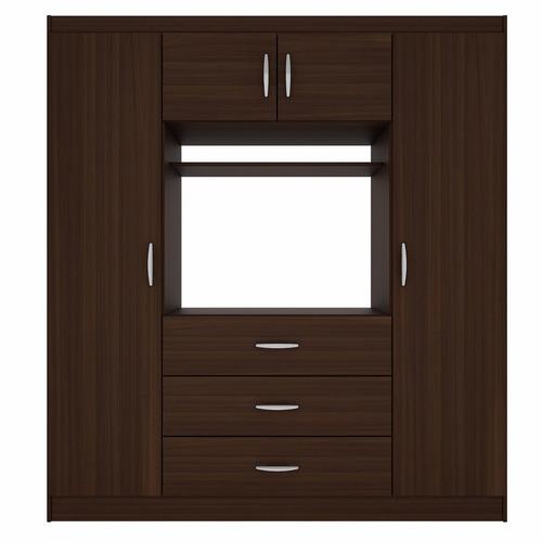Closet tv 32 39 3 cajones 4 puertas ikean en for Closet con espacio para tv