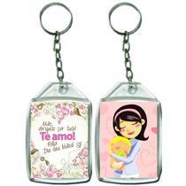 250 Chaveiro Acrílico 3x4 Personalizado Dia Das Mães Escola