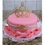 Display Enfeite Topo Bolo Princesa Príncipe Frozen Coroa