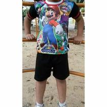 Conjuntos Para Niños De Mario, Cars, Toy Story De Algodón
