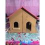 Casa De Boneca Com Telhado Pintado De Vermelho Em Mdf