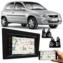 Multimidia Dvd Carro Mp3 Vectra Meriva Bluetooth + Moldura