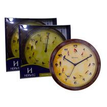 6658 - 3x Relógio De Parede Canto De Pássaros Herweg Atacado