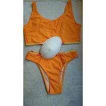 Biquini Para Mastectomia Em Lycra -duas Peças P