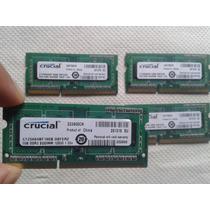 Memoria Ram Ddr3 2gb Para Laptop Crucial Como Nuevas