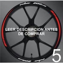 Stickers/cintas Para Rines Pulsar Bajaj Y Otras Motos Model5